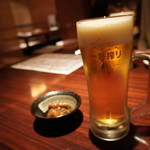 だいだらぼっち - 生ビールとお通し