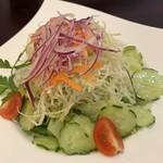 レストラン三國 - 先ずは「野菜サラダ」をお願いしました!