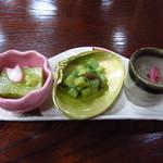霞月楼 - 前菜3種(H24.2)