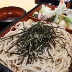 銀平 - 料理写真:天ざる1300円+ライス200円