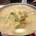永利 - 漬け白菜とスペアリブと春雨の鍋 1,200円