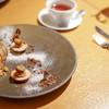Croissance - 料理写真:モンブラン 白い道を辿ると落ち葉や栗が落ちているようでとてもかわいいです♪(コースデザート)