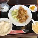 多福楼 - 生姜焼き定食@820円