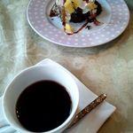 カントリーダイナー - ティラミスとコーヒー。