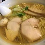 119004331 - 鶏そば一番絞り(塩)の清湯スープ