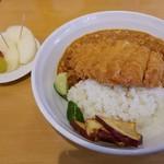 農村かふぇ ハレルヤ - 料理写真:ボリューム満点なチキンカツカレー(*´∀`*)