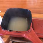石臼自家挽き蕎麦 みなもと - そば湯