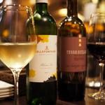 馬肉×ワイン 気まぐれバル 恵比寿 Whim - グラスワイン(常時:赤3種・白2種)