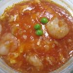 赤坂飯店 - 卵の海老チリソース丼