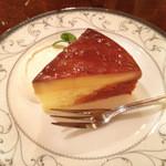プルミエカフェ - プリンのケーキ(¥500)