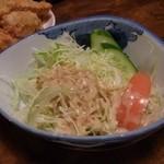 なぎさ亭 - カキフライのサラダ