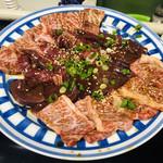 五味八珍 - 料理写真:ロース、バラ、ハラミ、キモ