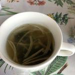 野の花 - 料理写真:ランチのスープ。コンソメスープで具がわかめと玉ねぎでした。
