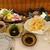 富山さかな処 みのり家 - 料理写真:お造り5点、銀鱈、白海老、黒造り