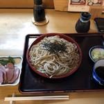 浅間坂 木庵 - 合鴨の燻製とお蕎麦大盛り