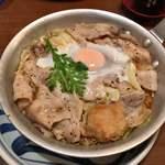 つくね - 野菜たっぷり一口ひれかつ入り国産豚すき焼鍋 1000円
