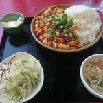 119047755 - 麻婆豆腐丼ランチセット