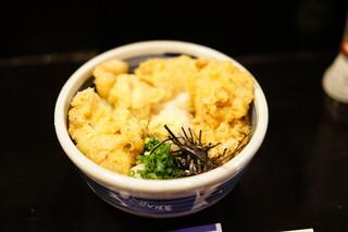 一滴八銭屋 新宿本店 - かしわ天ぶっかけ (¥850)