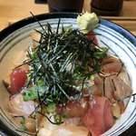 しずバル - いろんな魚のまかない漬け丼 アップ