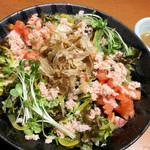 大間マグロ専門 個室 遥 - 蟹の和風サラダ ¥790