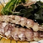 119056473 - ⑧蝦蛄(広島県尾道産)の酢の物                       産卵期は初夏~夏、旬も初夏~夏。                       温かい蝦蛄は濃い旨みと甘みがあり美味しいです♪