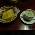 一茶寮 - トーストとスープ