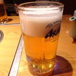 牛肉割烹 自雷也 - ドリンク写真:生ビール