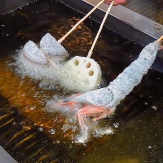 熱々の揚げたての絶品串をどうぞ!