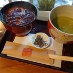 本宮カフェ - ぜんざいと抹茶♪