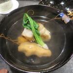 119085382 - こも豆腐・蓮根餅・小松菜