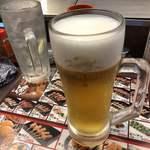秋吉 - ドリンク写真:2019年11月2日 生ビール(キリン一番搾り)