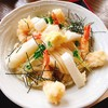 麦の香り - 料理写真:海老天お餅のぶっかけうどん    800円