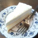 カフェドルチェ - 北海道チーズの2層ケーキ 450円