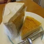 パティスリー フレシュール - もちもちシフォン¥250 チーズケーキ^380