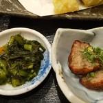 大衆寿司 豊洲 - 天ぷら定食のおかず
