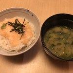 兼平鮮魚店 - とろろご飯&味噌汁