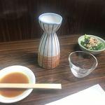 八仙 - お酒(400円)とお通し(300円)