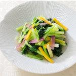 謝朋殿 - 料理写真:ターサイと彩り野菜の炒め