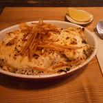 ヴェール・デ・グリ - 里芋とサーモンソースのドリア