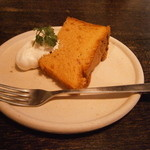 ヴェール・デ・グリ - セットのデザート、シフォンケーキ