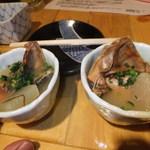 丸二 - お通し 鮭の三平汁 【 2012年3月 】