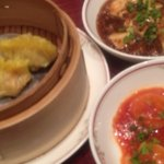 11916082 - エビチリ、フカヒレ入り餃子、麻婆豆腐