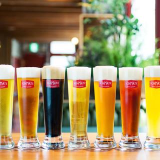クラフトビールで乾杯♪お料理とのペアリングをお楽しみください