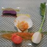 UZAWA - 2012年3月 Aランチ 前菜:本日のオードブル盛り合わせ