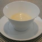 UZAWA - 2012年3月 Aランチ スープ:(茶碗蒸し風のスープ)←メニュー名、失念