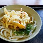 太郎うどん - かき揚げうどん(かけ+野菜のかきあげ)