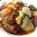 119176730 - 酢豚丼アップ