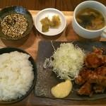ハオツー 中華料理 - 油淋鶏ランチ(800円) +ご飯大盛り