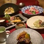 創作天ぷらと炭焼きワイン はかたあゆむ - クリスマスコース