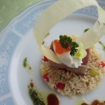 レストラン ラ ナチュール - 料理写真:マグロとクスクスのサラダ仕立て